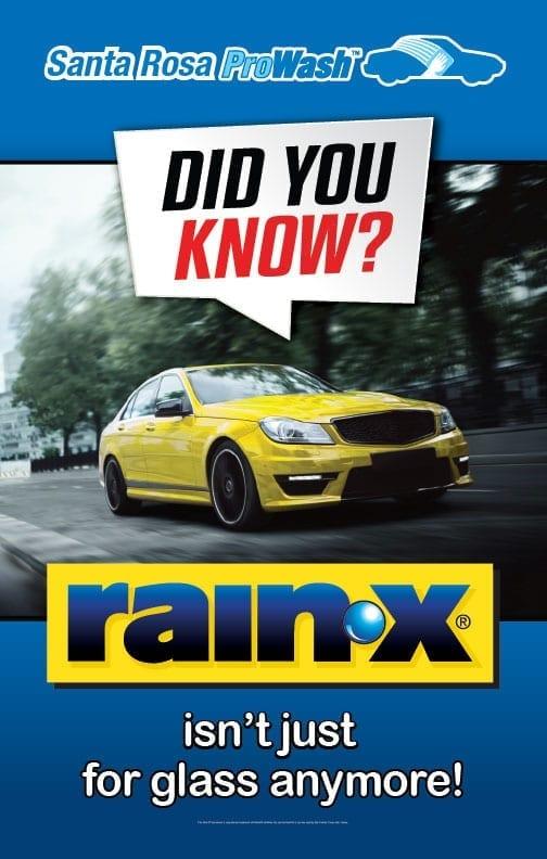 RainX helps make the car wash Santa Rosa loves!